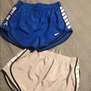 Two Pair NIKE shorts